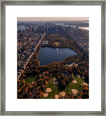 A Slice Of New York City  Framed Print