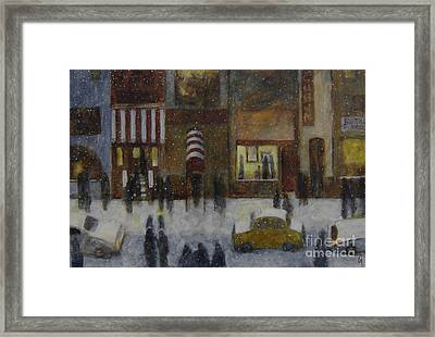 A Slice Of Night Life Framed Print by Glenn Quist