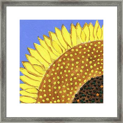 A Slice Of Sunflower Framed Print