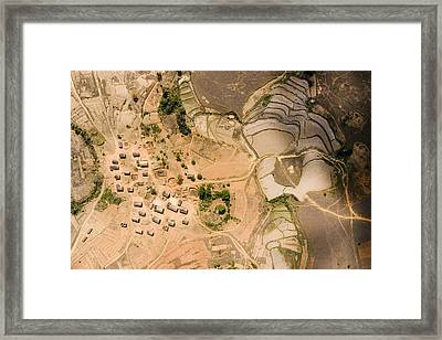 A Small Rice Village In The Central Framed Print by Michael Fay
