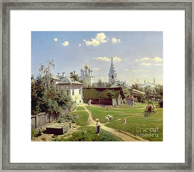 A Small Yard In Moscow Framed Print by Vasilij Dmitrievich Polenov