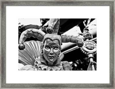 A Smile Behind The Scars B-w Framed Print by Christopher Holmes