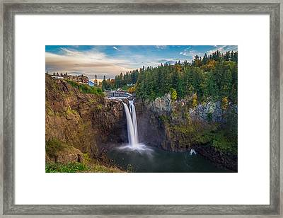 A Snoqualmie Falls  Autumn Framed Print