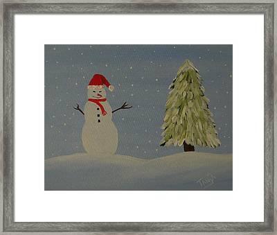 A Snowman's Christmas Framed Print