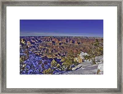 A Snowy Grand Canyon Framed Print