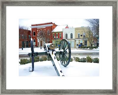 A Snowy March Day Framed Print by Debbie Smartt