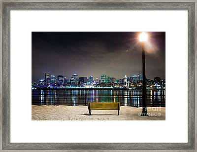 A Snowy Night In Montreal  Framed Print by Jane Rix