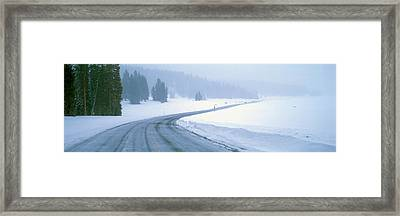 A Snowy Route 14, Near Cedar Breaks Framed Print by Panoramic Images