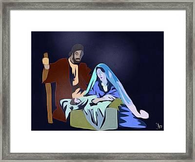 A Son Is Given Framed Print by Jennifer Buerkle