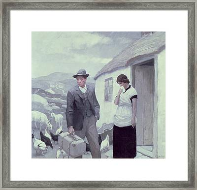 A Son Of His Father  Framed Print by Newell Convers Wyeth