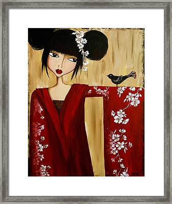 A Song For Suki Framed Print by Debbie Horton