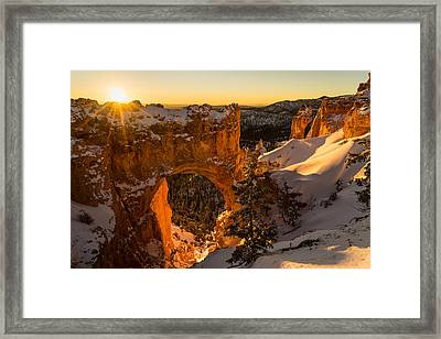 A Song Of Snow And Fire Framed Print by Ian Riddler