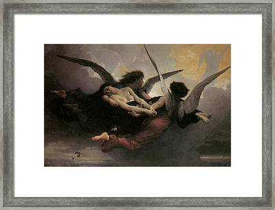 A Soul Brought To Heaven Framed Print by Adolphe William Bouguereau