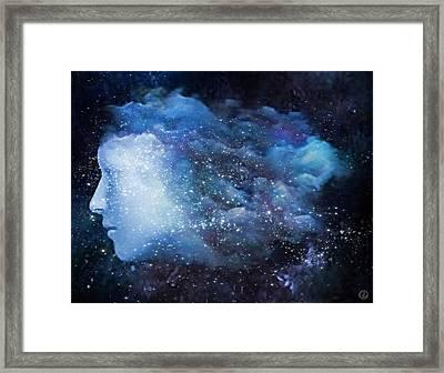 Framed Print featuring the digital art A Soul In The Sky by Gun Legler