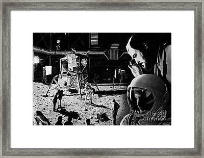 1969 - A Space Odyssey Framed Print by Stuart Attwell