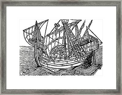 A Spanish Ship Framed Print