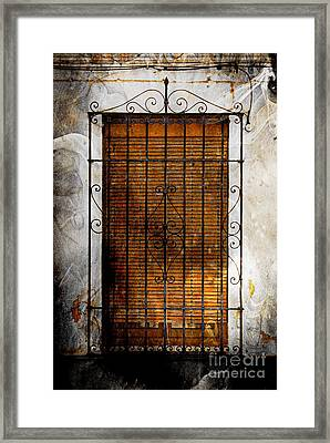 A Spanish Window Framed Print by Clare Bevan
