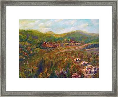 Framed Print featuring the painting A Special Place by Claire Bull
