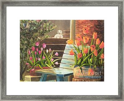 Framed Print featuring the painting A Special Place by Renate Nadi Wesley