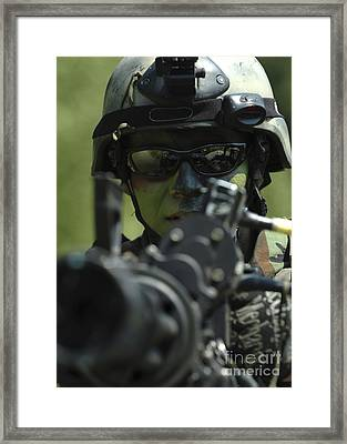 A Special Warfare Combatant-craft Framed Print by Stocktrek Images