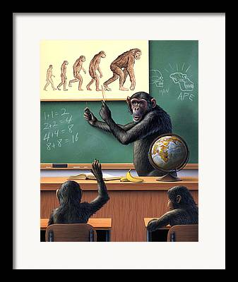 Bananas.ape Framed Prints