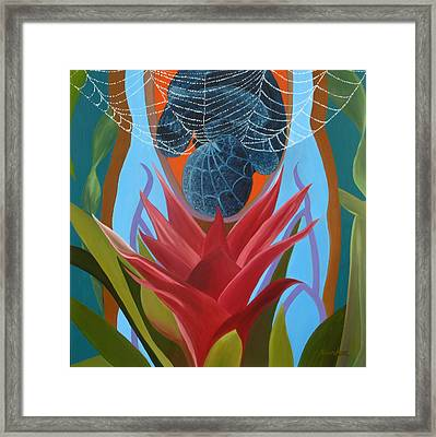 A Spider Baby Framed Print by Sunhee Kim Jung