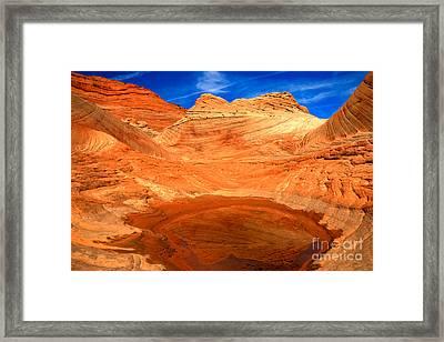 A Splash In The Desert Framed Print by Adam Jewell
