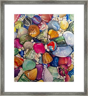 A Splash Of Color And Hardness Framed Print