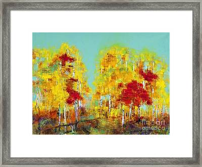 A Splash Of Red Framed Print by Frances Marino