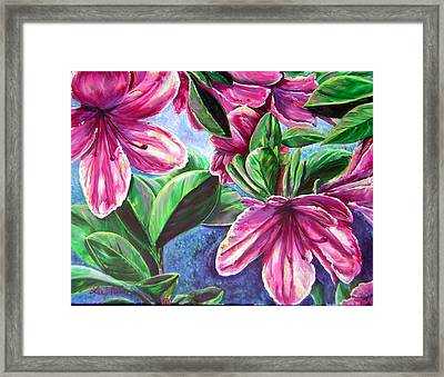 A Splash Of Spring Framed Print