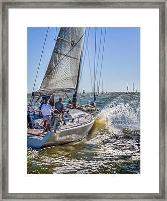 A Splashing Good Time Framed Print