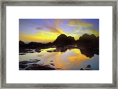 Framed Print featuring the photograph A Splatter Paint Sunset by Tara Turner
