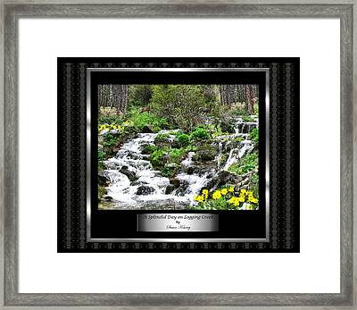 Framed Print featuring the photograph A Splendid Day On Logging Creek by Susan Kinney