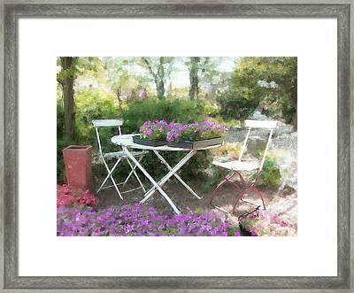 A Spot For Tea Framed Print by Eddie Durrett