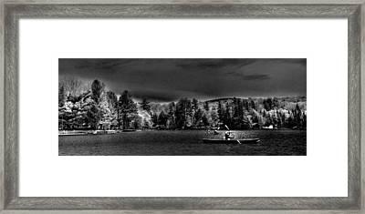 A Spring Day On Old Forge Pond Framed Print