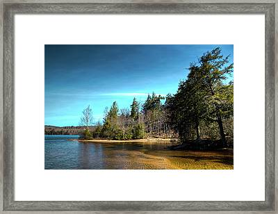 A Spring Day On Seventh Lake Framed Print by David Patterson