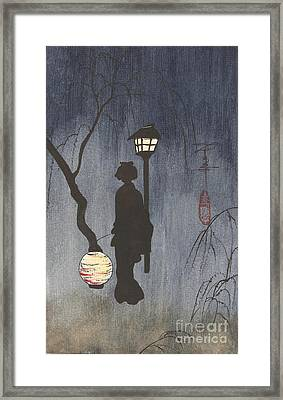 A Spring Evening Framed Print by Linda Smith