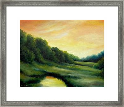 A Spring Evening Part Two Framed Print by James Christopher Hill