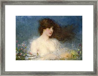 A Spring Idyll Framed Print by George Henry Boughton