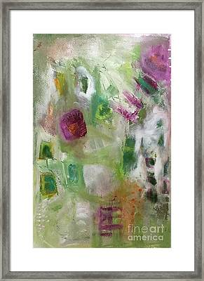 A Spring In Her Step Framed Print by Gail Butters Cohen