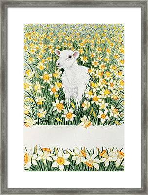 A Spring In The Step Framed Print by Pat Scott