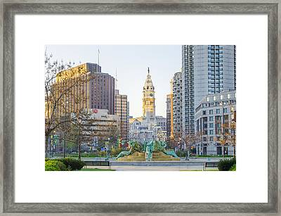 A Spring Morning In Philadelphia Framed Print by Bill Cannon