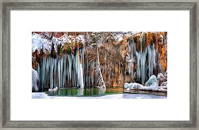 A Spring That Knows No Summer. - Hanging Lake Print Framed Print