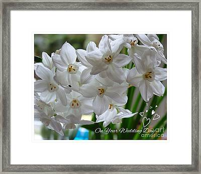 A Spring Wedding Framed Print