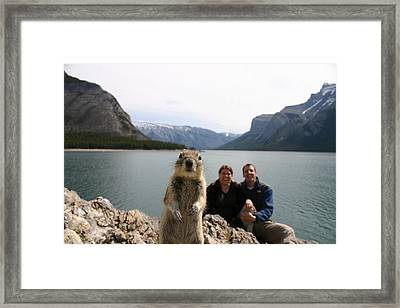 A Squirrel Takes The Shot By Tripping Framed Print by Melissa Brandts/National Geographic My Shot