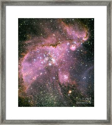A Star-forming Region In The Small Framed Print by Stocktrek Images