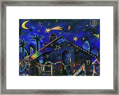 a star in Bethlehem Framed Print