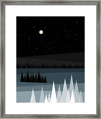 A Star Studded Sky Framed Print
