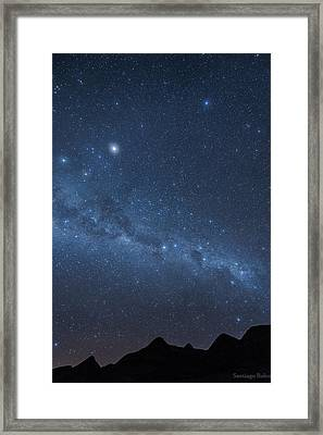 A Starry Night Framed Print by Santiago Rolon