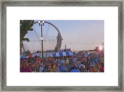 A State Fair Dusk Framed Print